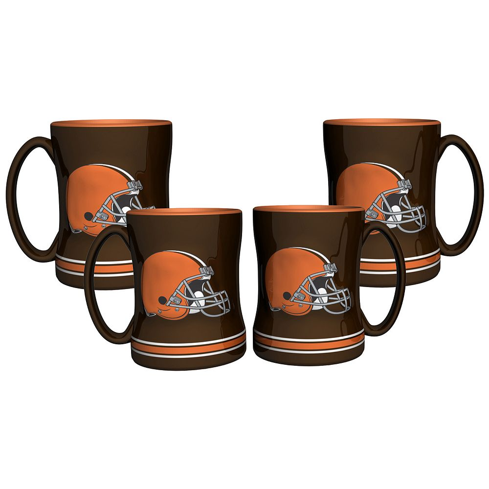 Cleveland Browns 4-pk. Sculpted Relief Mug