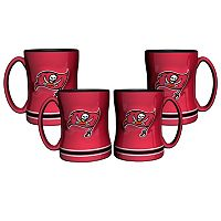 Tampa Bay Buccaneers 4-pk. Sculpted Relief Mug