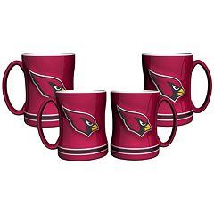 Arizona Cardinals 4 pkSculpted Relief Mug