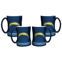 San Diego Chargers 4-pk. Sculpted Relief Mug