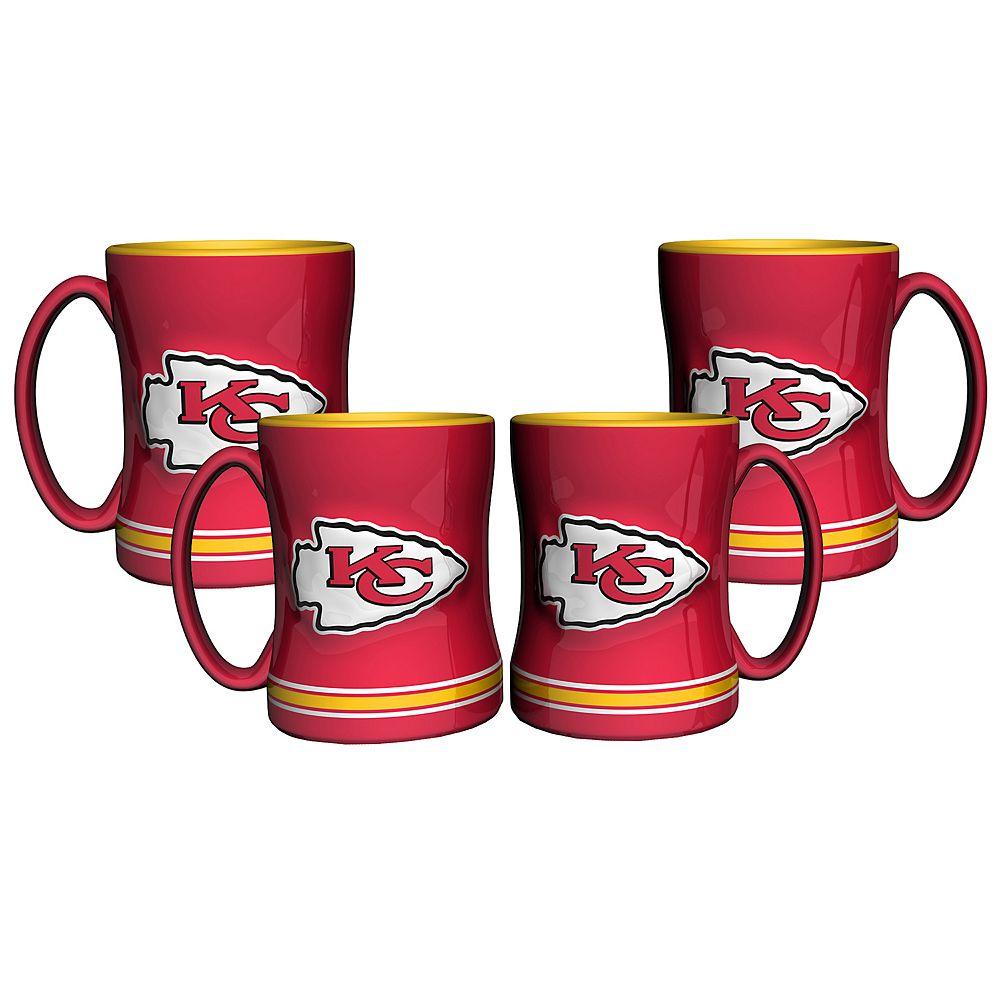 Kansas City Chiefs 4-pk. Sculpted Relief Mug