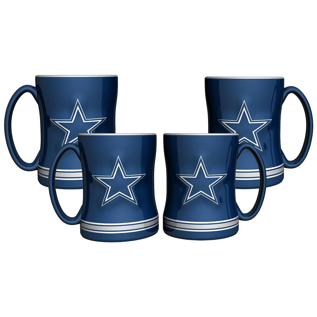Dallas Cowboys 4-pk. Sculpted Relief Mug