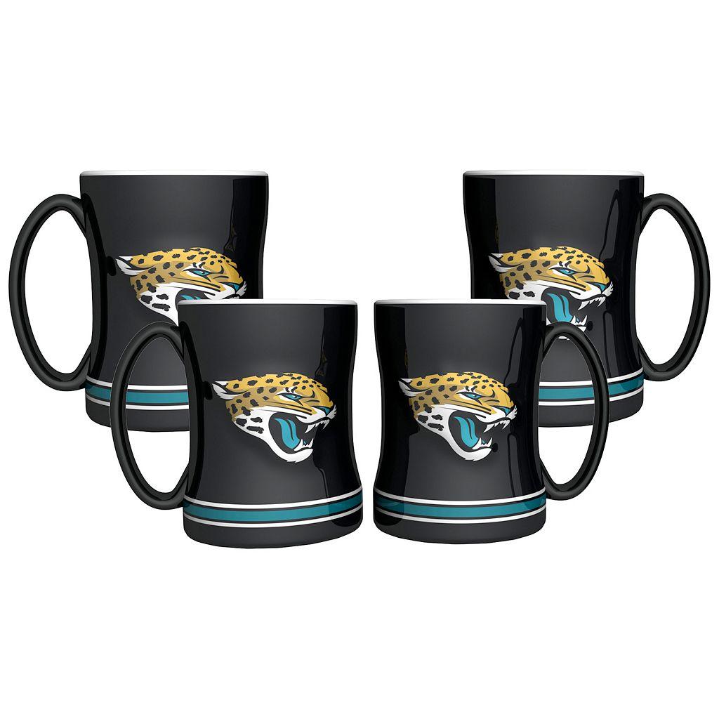 Jacksonville Jaguars 4-pk. Sculpted Relief Mug
