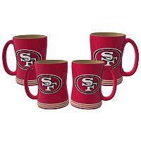 San Francisco 49ers 4 pkSculpted Relief Mug