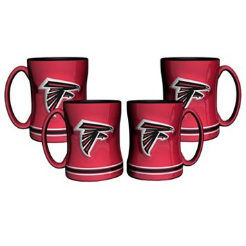Atlanta Falcons 4-pk. Sculpted Relief Mug