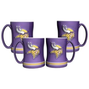 Minnesota Vikings 4-pk. Sculpted Relief Mug