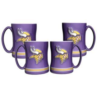 Minnesota Vikings 4-pk. Sculpted Relief Mug
