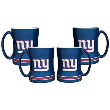 New York Giants 4-pk. Sculpted Relief Mug