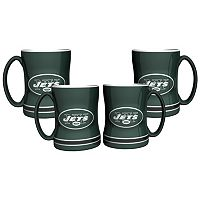 New York Jets 4-pk. Sculpted Relief Mug