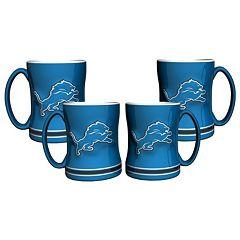Detroit Lions 4 pkSculpted Relief Mug