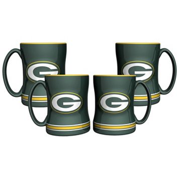 Green Bay Packers 4-pk. Sculpted Relief Mug