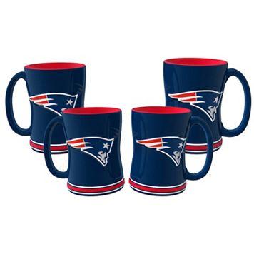 New England Patriots 4-pk. Sculpted Relief Mug