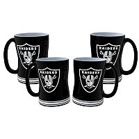 Oakland Raiders 4 pkSculpted Relief Mug