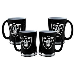 Oakland Raiders 4-pk. Sculpted Relief Mug