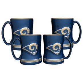 Los Angeles Rams 4-pk. Sculpted Relief Mug