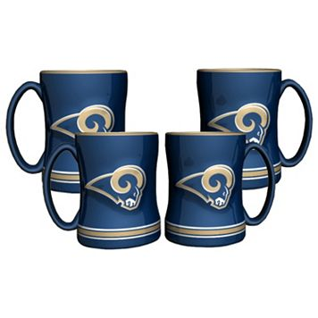 Los Angeles Rams 4-pk. Sculpted Relief Mug
