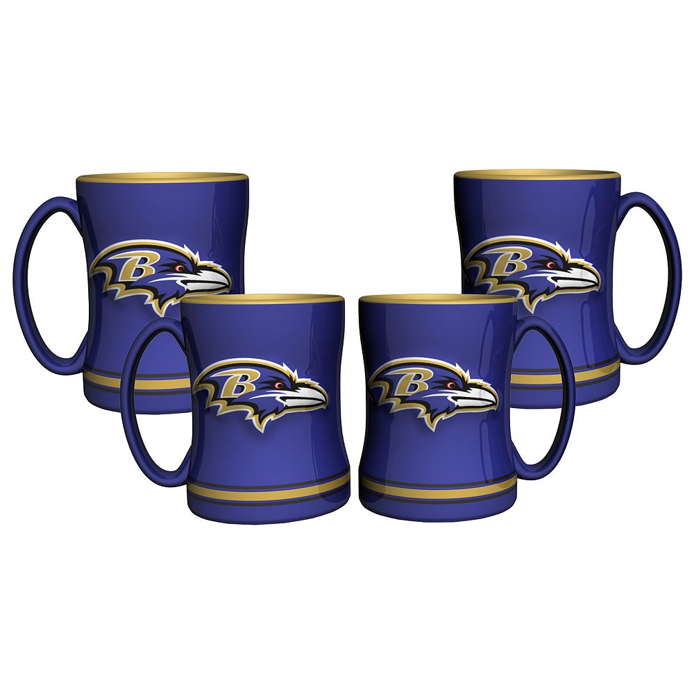 Baltimore Ravens 4-pk. Sculpted Relief Mug