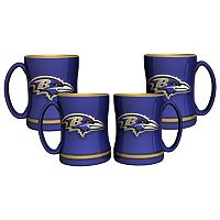 Baltimore Ravens 4 pkSculpted Relief Mug