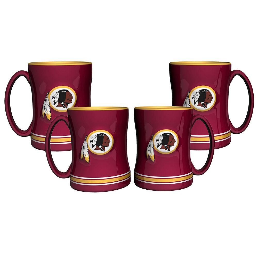 Washington Redskins 4-pk. Sculpted Relief Mug