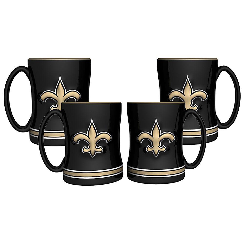 New Orleans Saints 4-pk. Sculpted Relief Mug