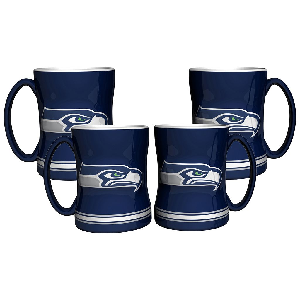 Seattle Seahawks 4-pk. Sculpted Relief Mug