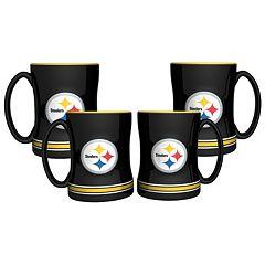 Pittsburgh Steelers 4 pkSculpted Relief Mug