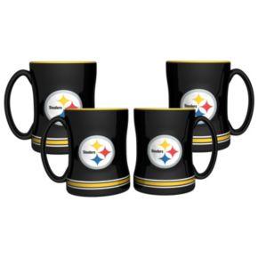 Pittsburgh Steelers 4-pk. Sculpted Relief Mug
