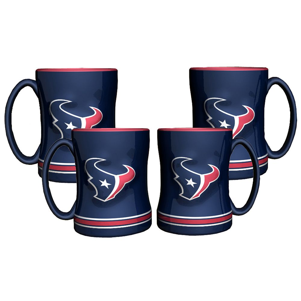 Houston Texans 4-pk. Sculpted Relief Mug