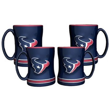 Houston Texans 4-pk. Sculpted Relief Mug