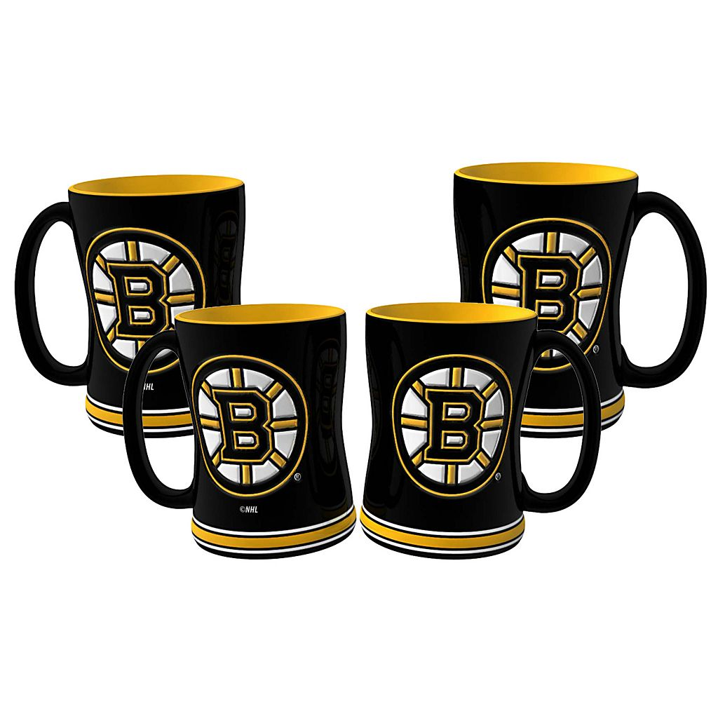 Boston Bruins 4-pk. Sculpted Relief Mug