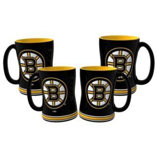 Boston Bruins 4-pk. Sculpted Relief Mug