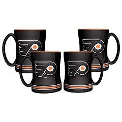 Philadelphia Flyers 4 pkSculpted Relief Mug
