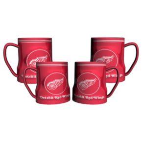 Detroit Red Wings 4-pk. Sculpted Relief Mug
