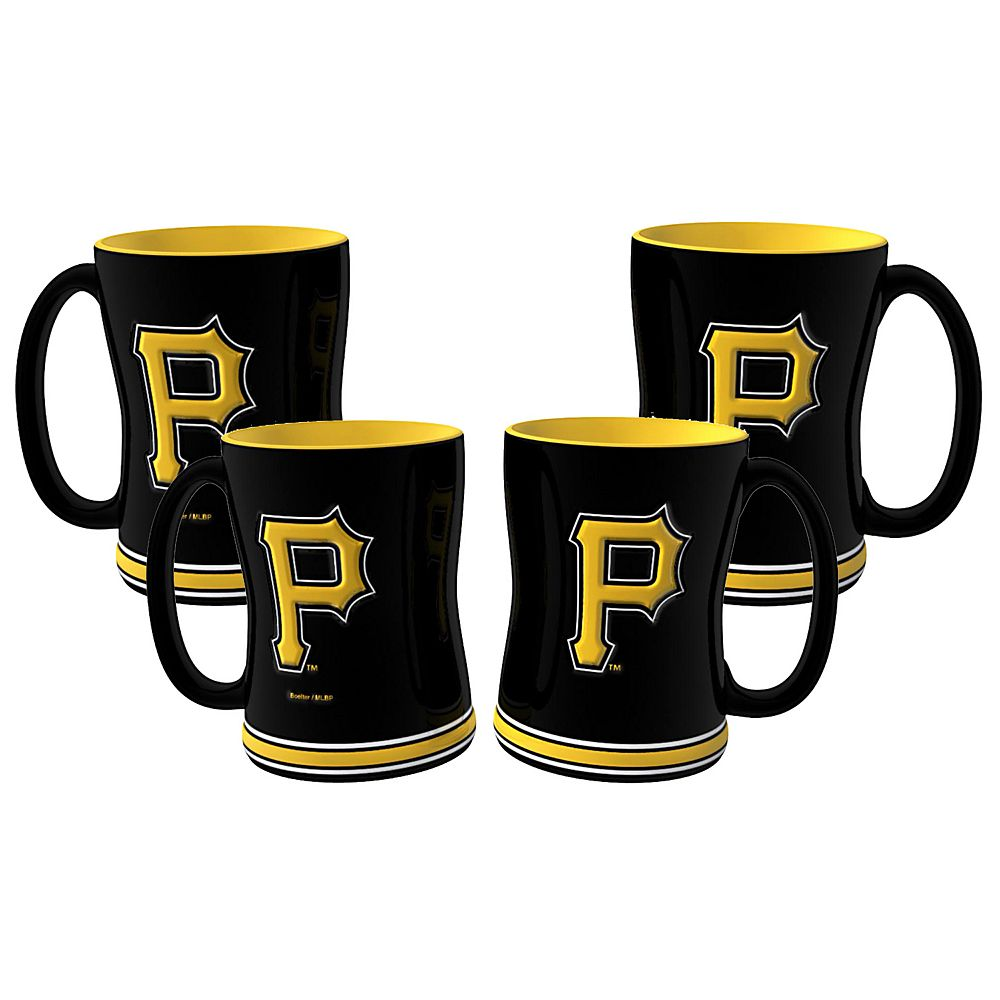 Pittsburgh Pirates 4-pk. Sculpted Relief Mug