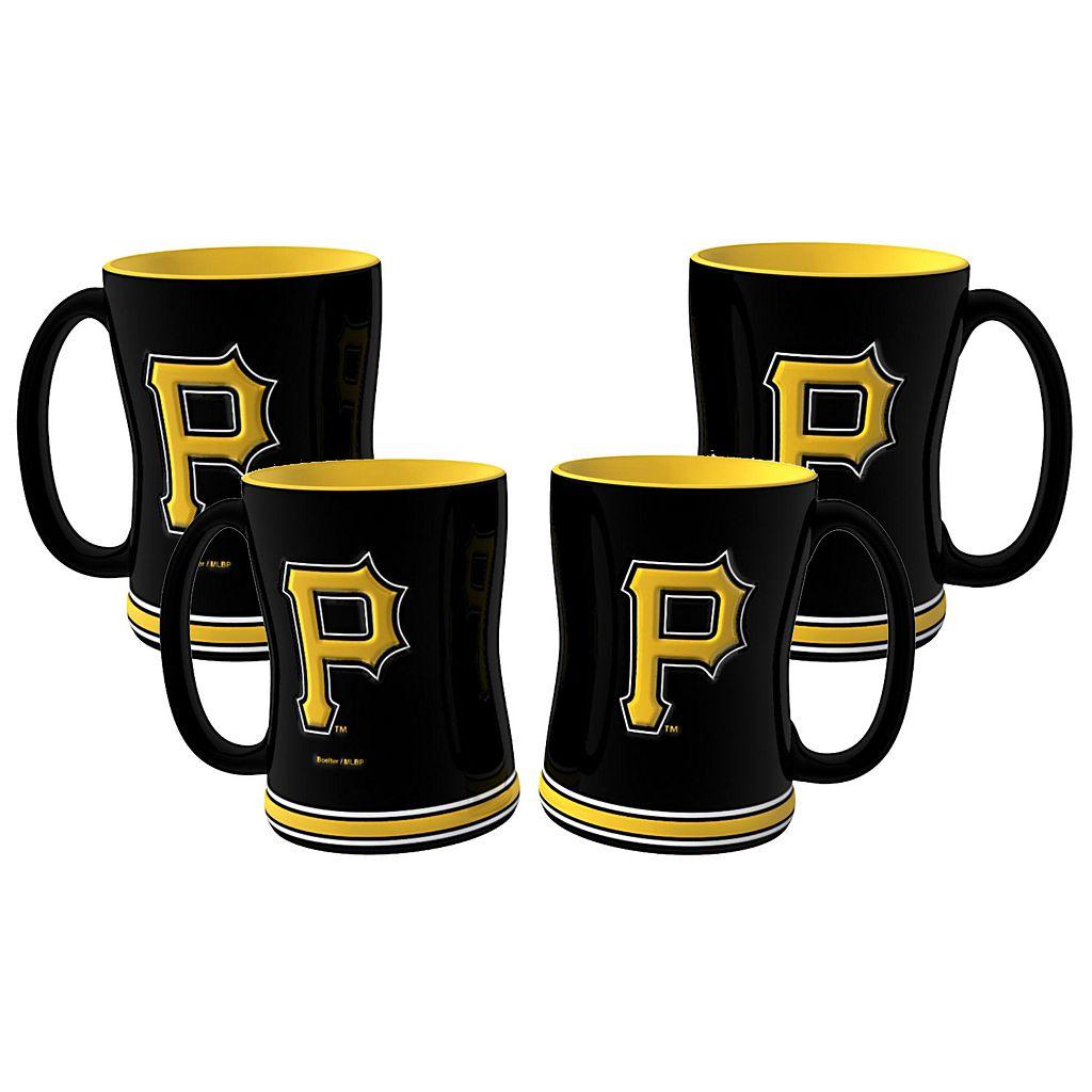 Pittsburgh Pirates 4-pk. Sculpted Relief Mug