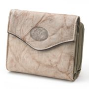 Buxton Marbled Heiress Leather Wallet