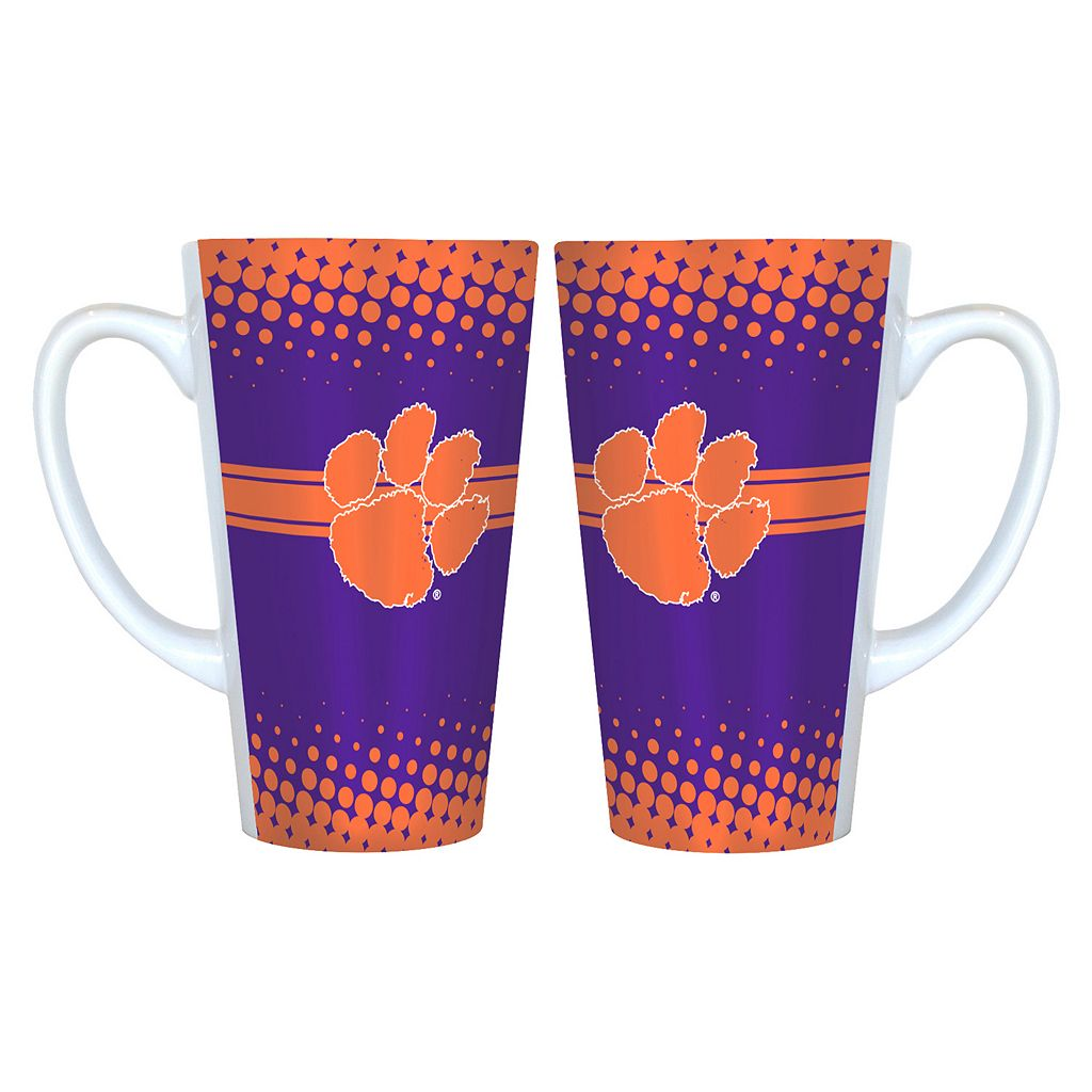 Clemson Tigers 2-pk. Latte Mug Set