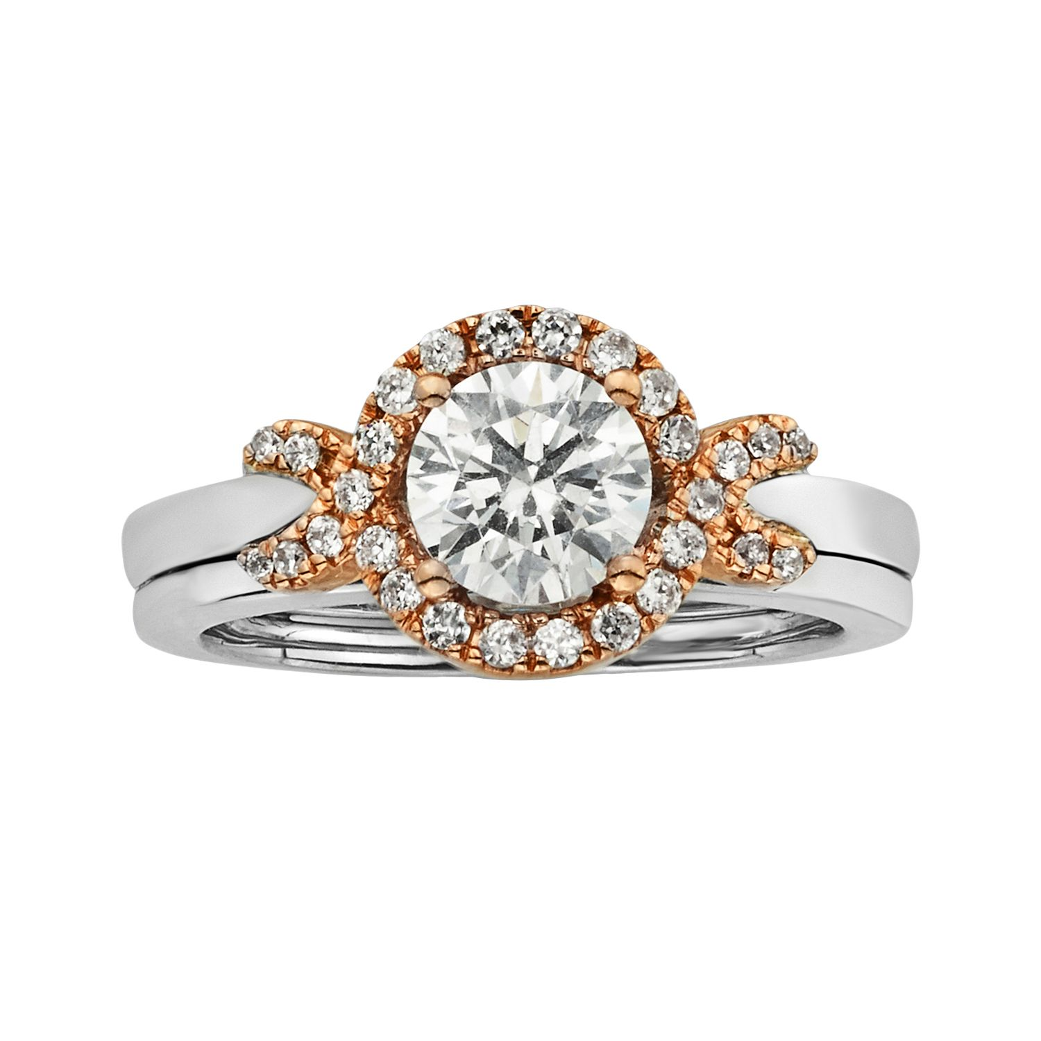 Halo Wedding Ring Sets 25 Awesome Round Cut IGL Certified