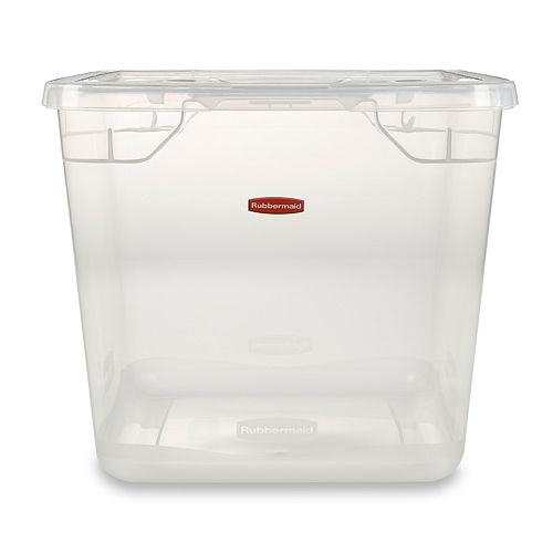 Rubbermaid 30-qt  Clever Store 3-pk  Storage Totes with
