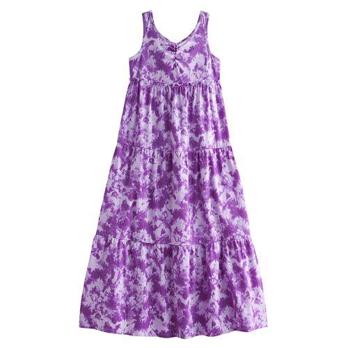 29e9a6cd927 Chaps Tie-Dye Maxi Dress - Girls 7-16