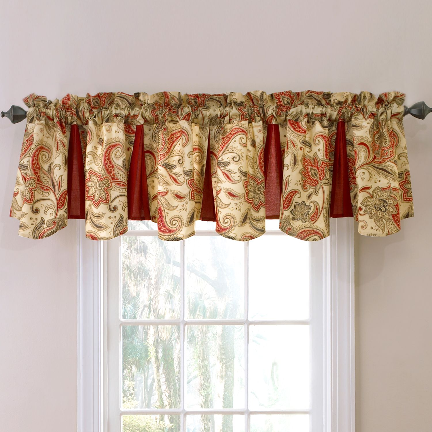Waverly rustic retreat window valance 48 x 18 for 18 x 48 window