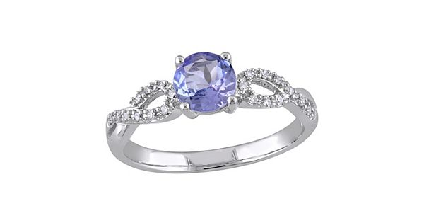 Champagne Tanzanite Tanzanite: Tanzanite And 1/10 Carat T.W. Diamond Engagement Ring In