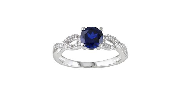 Diamond Rings For Sale Kohls: Lab-Created Sapphire And 1/10 Carat T.W. Diamond