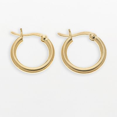 24k Gold-Over-Silver Polished Hoop Earrings