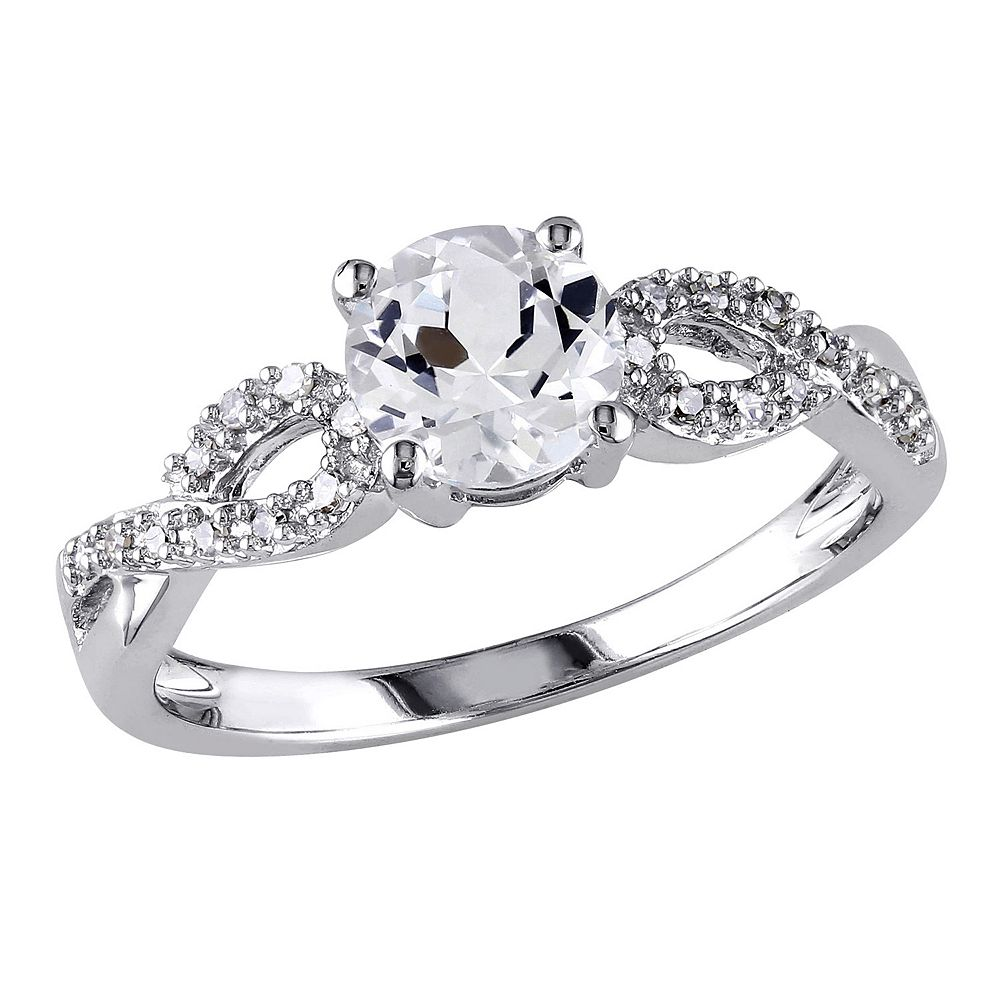 diamond white created products sapphire ring wedding set interchangeable sterling silver