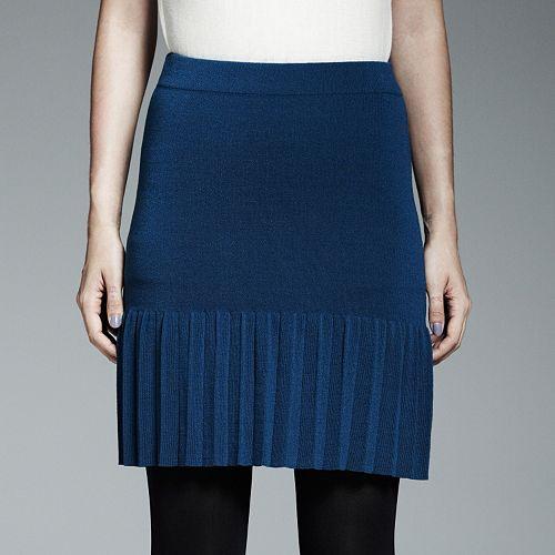 Catherine Malandrino for DesigNation Pleated Knit Skirt