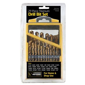 29-Piece Titanium Drill Bit Set