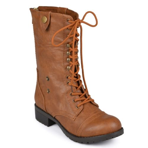 Journee Collection Holly Midcalf Combat Boots - Women