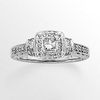 14k White Gold 3/4 ctT.W. Princess-Cut IGL Certified Diamond Halo Wedding Ring