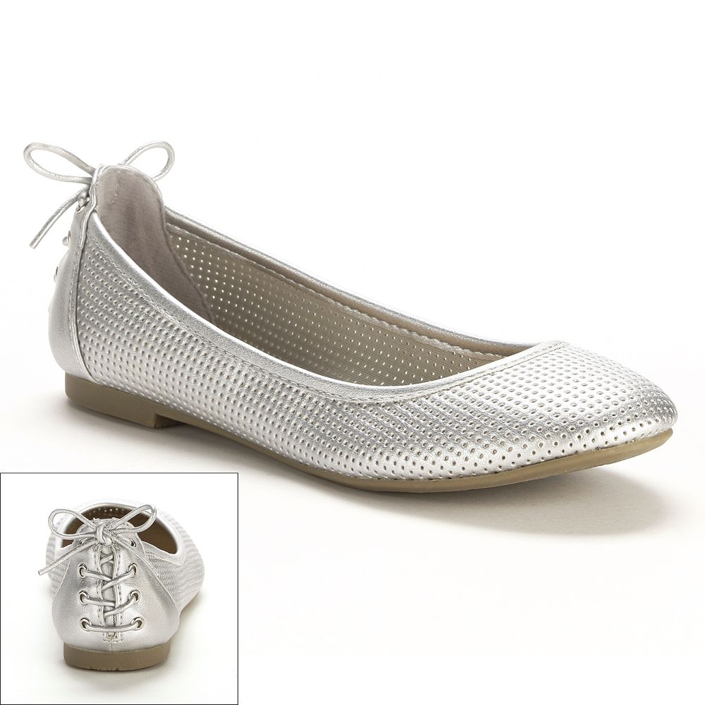 SO® Perforated Ballet Flats - Women